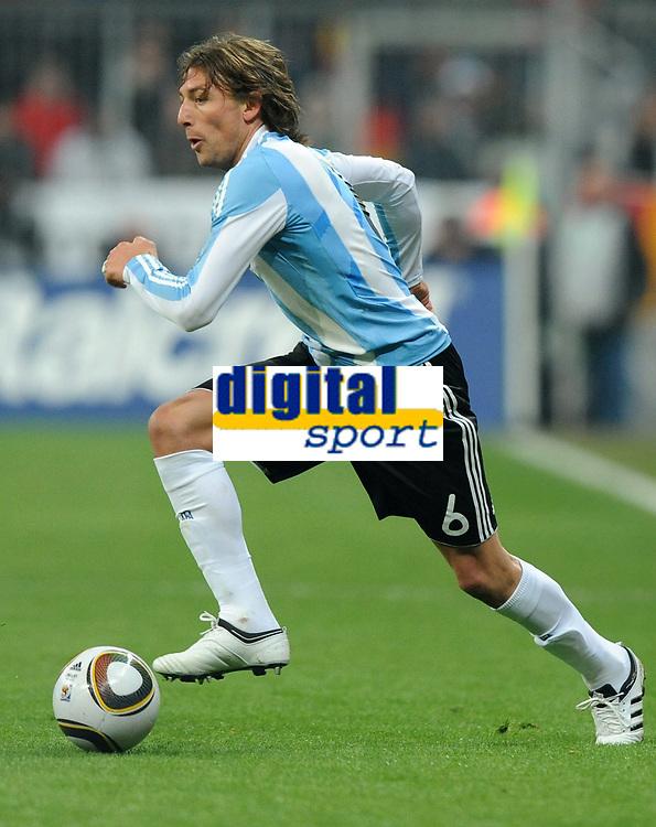 Fotball<br /> Tyskland v Argentina<br /> 03.03.2010<br /> Foto: Witters/Digitalsport<br /> NORWAY ONLY<br /> <br /> Gabriel Heinze Argentinien<br /> Testspiel Deutschland - Argentinien