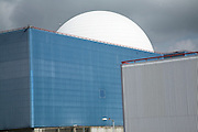 Sizewell nuclear power station, Suffolk, England. The rectangular concrete Sizewell A has now been decommissioned. The white dome of Sizewell B is British Energy's only PWR ( pressurised water reactor). With a possible new generation of nuclear reactors back on the political agenda the possibility of Sizewell C is again being discussed. White dome of Sizewell B nuclear reactor at Sizewell nuclear power station, Suffolk, England