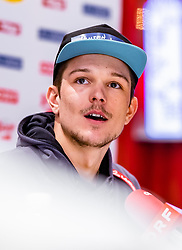 18.02.2019, Seefeld, AUT, FIS Weltmeisterschaften Ski Nordisch, Seefeld 2019, Langlauf, Pressekonferenz, im Bild Tobias Habenicht (AUT) // Tobias Habenicht of Austria during a press conferenc of Cross Country before the FIS Nordic Ski World Championships 2019. Seefeld, Austria on 2019/02/18. EXPA Pictures © 2019, PhotoCredit: EXPA/ JFK