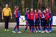 BILTHOVEN -  Hoofdklasse competitiewedstrijd dames, SCHC v hdm, seizoen 2020-2021.<br /> Foto: Vreugde na tweede doelpunt SCHC