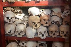 Siem Reap Killing Field Temple Skulls Exhibit