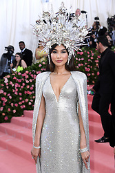 """Photo by: Doug Peters/starmaxinc.com<br />STAR MAX<br />©2019<br />ALL RIGHTS RESERVED<br />Telephone/Fax: (212) 995-1196<br />5/6/19<br />Gemma Chan at the 2019 Costume Institute Benefit Gala celebrating the opening of """"Camp: Notes on Fashion"""".<br />(The Metropolitan Museum of Art, NYC)"""