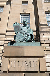 Statue of David Hume outside the High Court of Justiciary on The Royal Mile in Edinburgh, Scotland UK