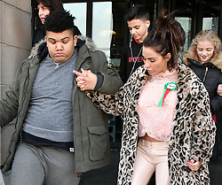 February 6, 2018 - London, London, United Kingdom - Katie Price in Parliament. Harvey Price and Katie Price at Portcullis House. Katie Price, Loose Women panellist gives evidence in Parliament at Parliamentary Select Committee meeting on how online abuse has affected her family, after an online petition she started gained over 200k public signatures, at House of Commons, London. (Credit Image: © Nils Jorgensen/i-Images via ZUMA Press)
