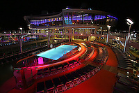 The launch of Royal Caribbean International's Oasis of the Seas, the worlds largest cruise ship..Pool and Sports Zone.