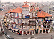 Oporto, December 2012. Resident houses on downtown, UNESCO World Heritage Site.