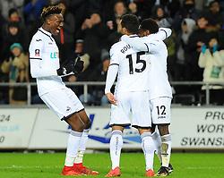 Nathan Dyer of Swansea City celebrates after making it 2-0 - Mandatory by-line: Nizaam Jones/JMP - 06/02/2018 - FOOTBALL - Liberty Stadium - Swansea, Wales - Swansea City v Notts County - Emirates FA Cup fourth round proper