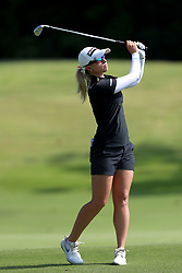 March 3, 2019 - Singapore - Jodi Ewart Shadoff of England plays a shot on the 2nd hole during the final round of the Women's World Championship at the Tanjong Course, Sentosa Golf Club. (Credit Image: © Paul Miller/ZUMA Wire)