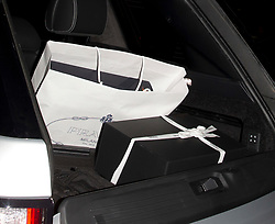Jonathan Cheban and his mother were seen leaving good friend Kim Kardashian's 37th Birthday dinner at the 'Carousel' Lebanese and Armenian Restaurant in Los Feliz, CA There was presents for Kim from Chanel and Prada in the back of the Silver Range Rover. 26 Oct 2017 Pictured: Prada, Chanel, Presents. Photo credit: MEGA TheMegaAgency.com +1 888 505 6342