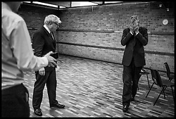 Image ©Licensed to i-Images Picture Agency. 07/04/2016. London, United Kingdom. Zac Goldsmith Campaign. Conservative Party Mayoral candidate Zac Goldsmith and the London Mayor Boris Johnson during a rally in Wanstead, North East London. Picture by Andrew Parsons / i-Images
