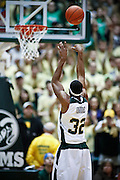 SHOT 2/23/10 10:33:45 PM - Colorado State's Andy Ogide shoots a free throw against New Mexico during the second half of their regular season Mountain West Conference game at Moby Arena in Fort Collins, Co. New Mexico survived a tight game winning 72-66. (Photo by Marc Piscotty / © 2010)