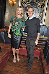 SASHA TERNENT and JASCHA WIDECKI at the launch of the Johnnie Walker Blue Label Club held at The Scotch, Mason's Yard, London on 1st May 2012.
