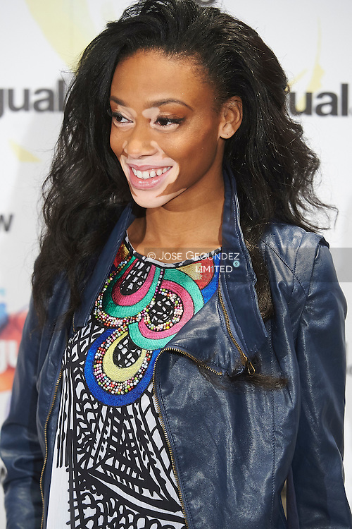 Chantelle Winnie attends a photocall at Desigual store on February 6, 2015 in Madrid, Spain.