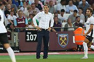 Slaven Bilic, West Ham United manager looks on from the touchline. UEFA Europa league, 1st play off round match, 2nd leg, West Ham Utd v Astra Giurgiu at the London Stadium, Queen Elizabeth Olympic Park in London on Thursday 25th August 2016.<br /> pic by John Patrick Fletcher, Andrew Orchard sports photography.