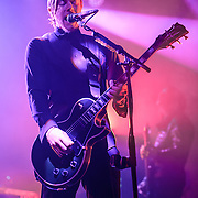 Paul Banks of Interpol performs at Echostage in Washington, D.C. The band is currently touring behind their fifth studio album, El Pintor. (Photo by Kyle Gustafson)
