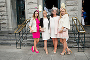 Cliodha Finn, Claremorris, Mayo, Marianne Walsh, Galway, Gillian Dugann McCormac, Renmore, Anna Dugann, Claremorris at the Hotel Meyrick Most Stylish Lady event on ladies day of The Galway Races. Photo:Andrew Downes