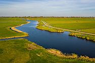 Nederland, Omgeving Krommenie, 20181013<br /> Polderlandschap nabij Krommenie met veel sloten en watertjes. Foto gemaakt met drone. <br />  <br /> Foto: (c) Michiel Wijnbergh