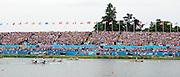 Eton Dorney, Windsor, Great Britain,<br /> <br /> 2012 London Olympic Regatta, Dorney Lake. Eton Rowing Centre, Berkshire[ Rowing].<br /> <br /> Description; Women's Pairs,  Gold Medalist Helen GLOVER and Heather STANNING. GBR W2-   Dorney Lake.<br /> <br /> 11:57:35  Wednesday  01/08/2012<br /> <br /> [Mandatory Credit: Peter Spurrier/Intersport Images]