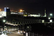 industrial complex during night