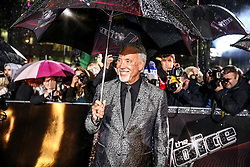 Coach Tom Jones  poses on the red carpet before the Blind Auditions begin for the new series of  The Voice on ITV.