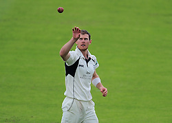 James Harris of Middlesex receives the ball.  - Mandatory by-line: Alex Davidson/JMP - 12/07/2016 - CRICKET - Cooper Associates County Ground - Taunton, United Kingdom - Somerset v Middlesex - Day 3 - Specsavers County Championship Division One