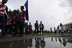 August 27, 2017 - Bangkok, Bangkok, Thailand - Members of the Karen during hold their Wrist tying ceremony in Bangkok, Thailand. 27 August 2017. (Credit Image: © Anusak Laowilas/Pacific Press via ZUMA Wire)