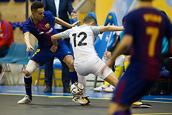 November 22, 2017 - Pescara, PE, Italy - Jess Nazaret Aicardo of FC Barcelona compete for the ball with Noureddine Oulad Ben Youssef of 't Knooppunt during the Elite Round of UEFA Futsal Cup 17/18 match between FC Barcelona and ZVV 'T Knoppount at Giovanni Paolo II arena on November 22, 2017 in Pescara, Italy. (Credit Image: © Danilo Di Giovanni/NurPhoto via ZUMA Press)
