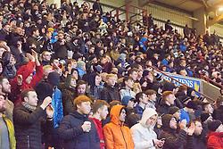Falkirk fans. Dunfermline 1 v 1 Falkirk, Scottish Championship game played 26/12/2016 at East End Park.