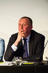 Pictured: Ian McGill (Conservatives)<br /> <br /> Candidates from the five main parties faced questions at the Building Scotland's Future election hustings today. The panalists, Kath Gordon (Lib Dem), Marco Biagi (SNP), Monica Lennon (Labour), Ian McGill (Conservatives) and Maggie Chapman (Co-convenor of the Scottish Greens) were quizzed on issued affecting infrastructure and the build environment.  <br /> <br /> Ger Harley | EEm 19 April 2016