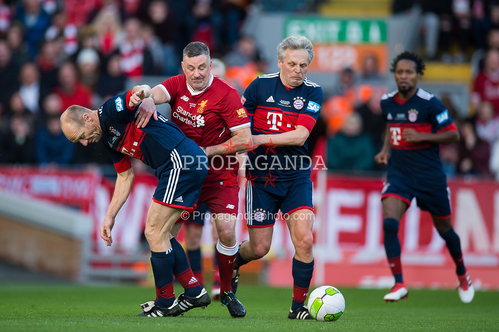 LIVERPOOL, ENGLAND - Saturday, March 24, 2018J. John Aldridge of Liverpool Legends during the LFC Foundation charity match between Liverpool FC Legends and FC Bayern Munich Legends at Anfield. (Pic by Peter Powell/Propaganda)