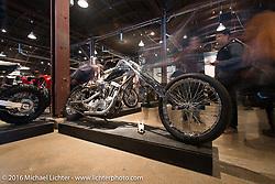 Alan Rundskopf's Strange Cycles' Drekkar custom 1959 Harley-Davidson XLH on Saturday in the Handbuilt Motorcycle Show. Austin, TX, USA. April 9, 2016.  Photography ©2016 Michael Lichter.