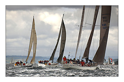 Yachting- Sundays inshore racing  of the Bell Lawrie Scottish series 2003 at Tarbert Loch Fyne. Again light westerly winds and flat water made for tactical racing...Nimmo, Playing FSTE and Desperado fetch across the Loch.....Pics Marc Turner / PFM