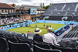 June 19, 2018 - London, England, United Kingdom - View of the Centre Court and training courts on day two of Fever Tree Championships at Queen's Club, London on June 19, 2018. (Credit Image: © Alberto Pezzali/NurPhoto via ZUMA Press)