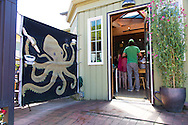 """Manzanita, Oregon, located on Neahkahnie Beach, is a small beach town located in Tillamook County on the Northern Oregon coast.  Manzanita means """"little apple"""" in Spanish. Pictured here is Bread and Ocean a bakery and coffee shop on Laneda"""