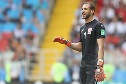 June 23, 2018 - Moscou, Rússia - MOSCOU, MO - 23.06.2018: BÉLGICA Y TÚNEZ - Ben Mustapha during the match between Belgium and Tunisia valid for the 2018 World Cup held at the Otkrytie Arena (Spartak) in Moscow, Russia. (Credit Image: © Ricardo Moreira/Fotoarena via ZUMA Press)