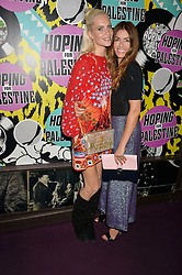 Left to right, POPPY DELEVINGNE and SARA MACDONALD at Hoping's Greatest Hits - the 10th Anniversary of The Hoping Foundation's charity benefit held at Ronnie Scott's, 47 Frith Street, Soho, London on 16th June 2016.