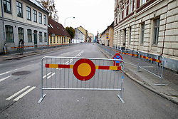 October 31, 2016 - Lund, Sweden - The streets were cleared in Lund for Pope Francis visit...Commemorations for the 500th anniversary of the Reformation, Lund, Sweden (Credit Image: © Aftonbladet/IBL via ZUMA Wire)