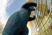 """""""I See What You Mean"""" (Big Blue Bear sculpture by Lawrence Argent), Colorado Convention Center, Denver, Colorado USA"""