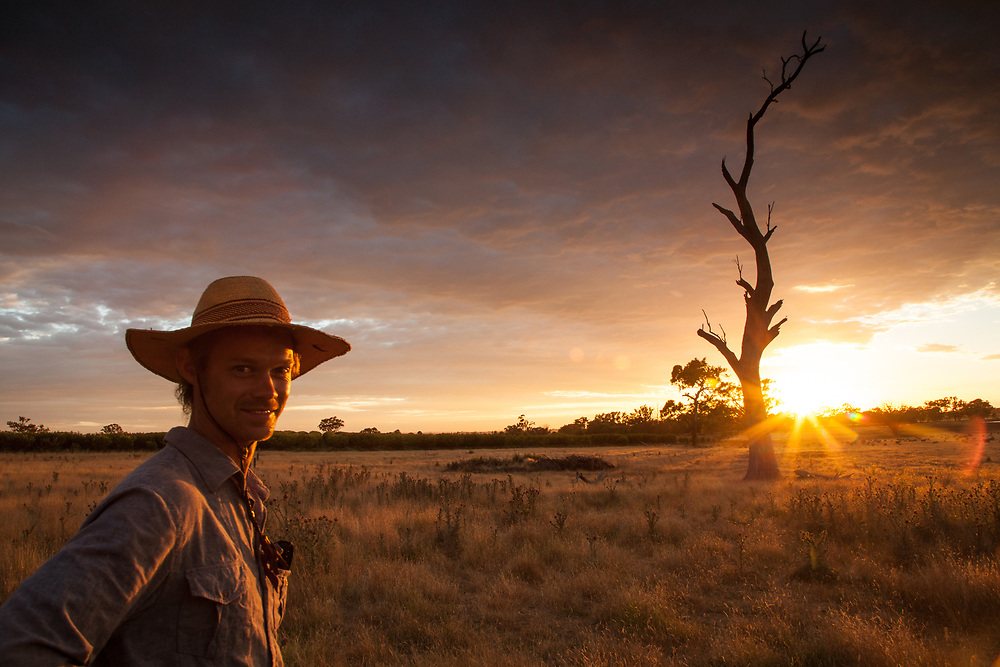I portrayed this young man ready to start his day of work in a farm near Young in Australia. Due to the very hot climate in the internal areas of the country, the people working in the fields must start the job early in the morning. Photo by Lorenz Berna