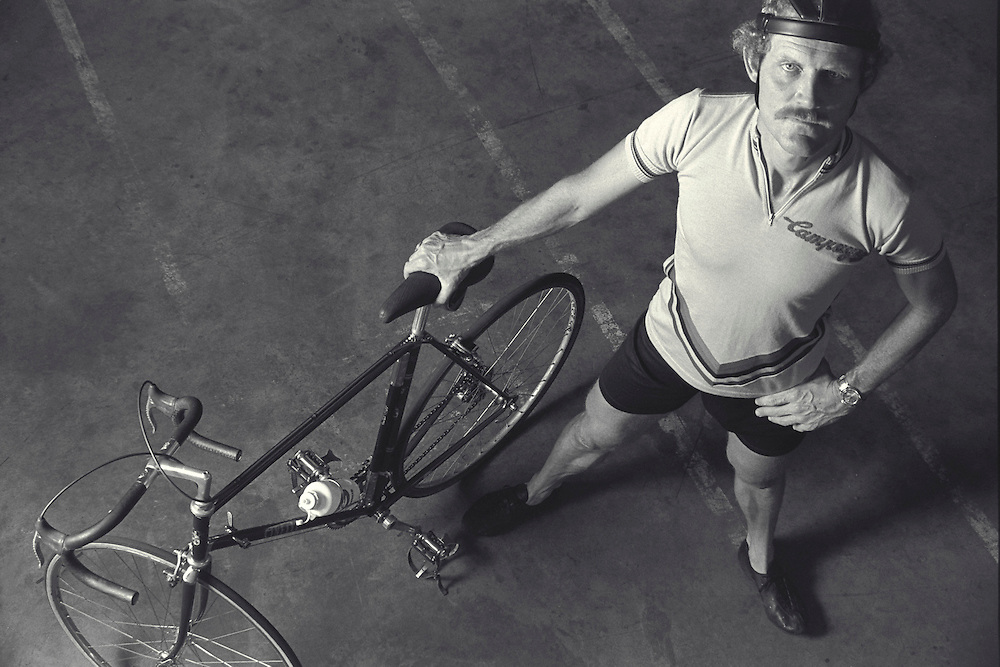 John Howard, The First Iron Man Triathlon (1981). Shot in Houston, TX. He is in the Cycling Hall Of Fame and of the UltraCycling Hall of Fame. He has authored four books and numerous articles on cycling.<br /> Set the bicycle speed record of 152.2 mph on the Bonneville Salt Flats. (1985) <br /> Won the USA Cycling Elite level Road Championships four times (1968, 1972, 1973, 1975)<br /> Spent 10 years on the US National Cycling Team<br /> Ridden on the 1968, 1972 and 1976 Olympic Teams<br /> Won America's only gold at the Pan-Am Games Road Race (1971)<br /> Finished 2nd in the Race Across America (1982)<br /> Set the world 24-hour cycling distance record of 593 miles (1987) <br /> Been named Competitive Cycling Magazine's Cyclist of the Decade (1970's) <br /> Never given up--he has been USAC and NORBA Elite and Master's National Champion 18 times