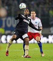 v.l. Ryan Babel, Jeffrey Bruma (HSV)<br /> Bundesliga, Hamburger SV - TSG 1899 Hoffenheim 2:0<br /> <br /> Norway only