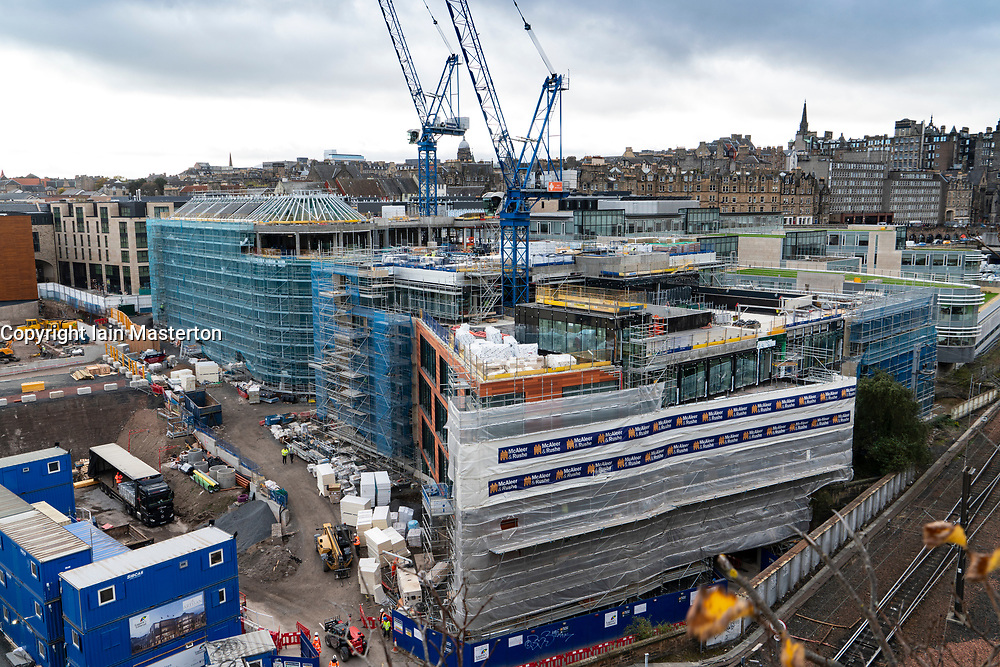 Construction site for new office blocks for Edinburgh City Council at Canongate in Edinburgh, Scotland, UK