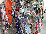 USA, Oklahoma, Oklahoma City, The Murrah Federal Building bombing Memorial Park in April 1995. The Shrine to the dead memorial fence