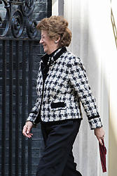 Downing Street, London, April 12th 2016. Minister of State for Foreign and Commonwealth Affairs Baroness Joyce Anelay leaves the weekly cabinet meeting. <br /> ©Paul Davey<br /> FOR LICENCING CONTACT: Paul Davey +44 (0) 7966 016 296 paul@pauldaveycreative.co.uk