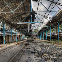 Abandoned factory in Sheffield, UK