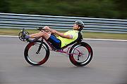 In Duitsland worden op de Dekrabaan bij Schipkau recordpogingen gedaan met speciale ligfietsen tijdens een speciaal recordweekend.<br /> <br /> In Germany at the Dekra track near Schipkau cyclists try to set new speed records with special recumbents bikes at a special record weekend.