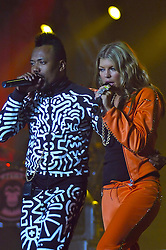 Fergie e Taboo durante o show da banda Black Eyed Peas, no auditorio da FIERGS, em Porto Alegre-RS. FOTO: Luiz A. Guerreiro/Preview.com