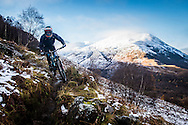 Chris Lewis tackles stage one of the Kinlochleven Enduro.