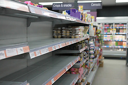 Empty Shelves in a co-operative store during the Corona Virus Pandemic<br /> <br /> <br /> Ben Booth | 20/03/2020