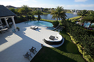 The back patio and pool is viewed from the bedroom suite balcony of Filippo Arruda, 11, of the Arruda home in Windermere, Fla., Friday, March 10, 2017. (Phelan M. Ebenhack for The Wall Street Journal)<br /> DUALMASTER-Arruda/Windermere